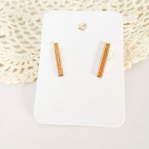 Kenda Scott Iridescent Shimmer Rose Gold Studs